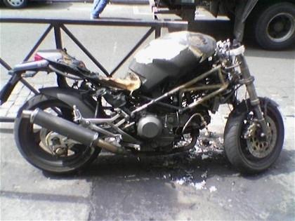 La photo du jour : Ducati calcinée
