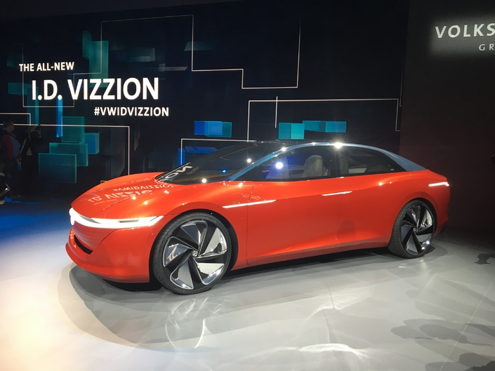 Volkswagen I D Vizzion Le Futur Haut De Gamme Video En Direct