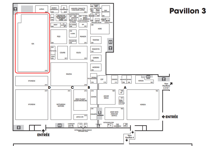 Guide des stands Mondial 2014 - Kia : nouveau Sorento