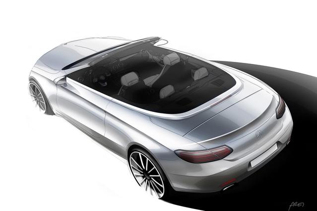 Salon de Genève 2016 : teaser pour la Mercedes Classe C cabriolet