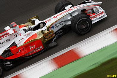 Formule 1 - Italie D.1: Sutil se met dans le bain