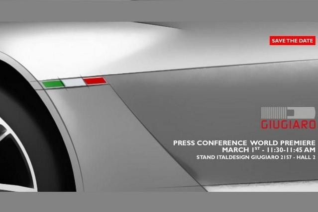 Salon de Genève 2016 : Giugiaro prépare un concept