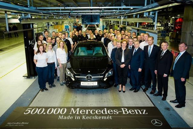 Mercedes fête sa 500 000ème voiture assemblée en Hongrie