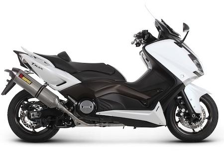 Yamaha T-Max 2012: déjà une ligne d'échappement signée Akrapovic