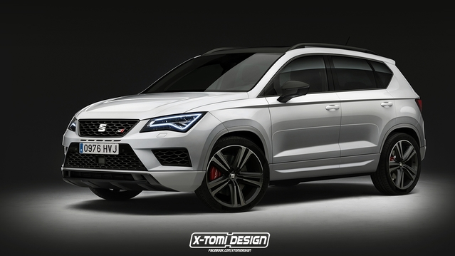 Design : un graphiste imagine un Seat Ateca Cupra