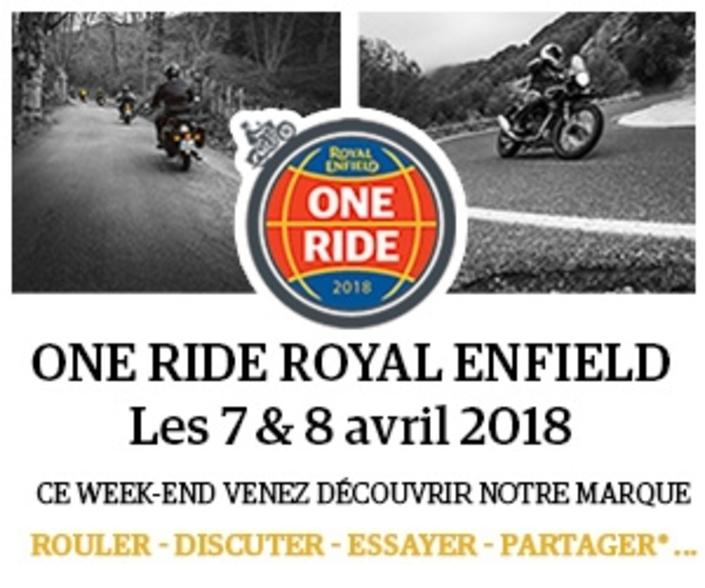 Royal Enfield: One Ride les 7 et 8 avril 2018