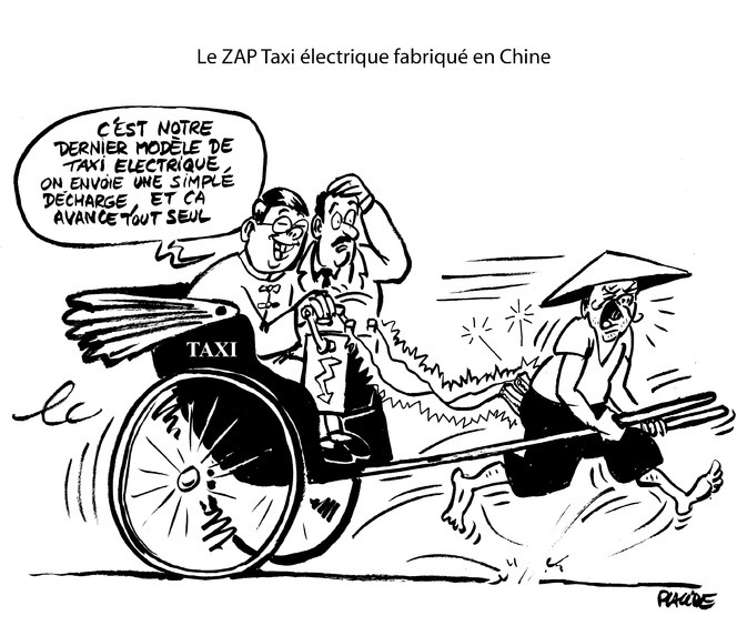 Le dessin du jour – ZAP Taxi en surtension