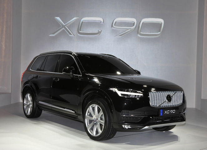 vid o nouveau volvo xc90 caradisiac tait la. Black Bedroom Furniture Sets. Home Design Ideas