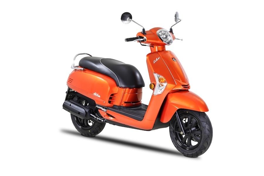 Kymco Like 50/125 : série limitée orange sanguine à 400 exemplaires