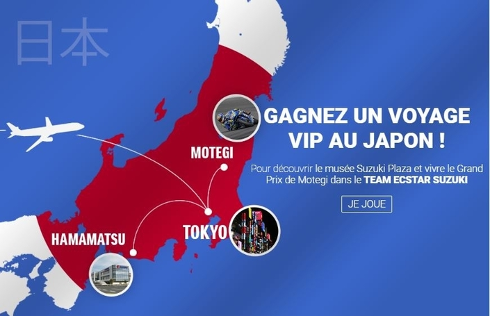 Suzuki fait son Spring Break en vous faisant partir au Japon