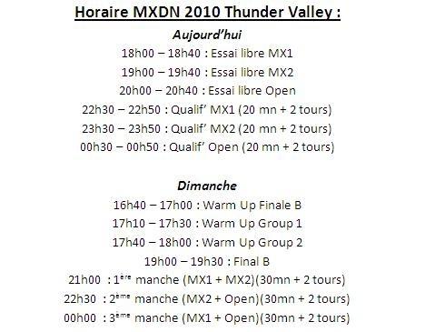 MX des Nations 2010 : les horaires et les images de l'évènement