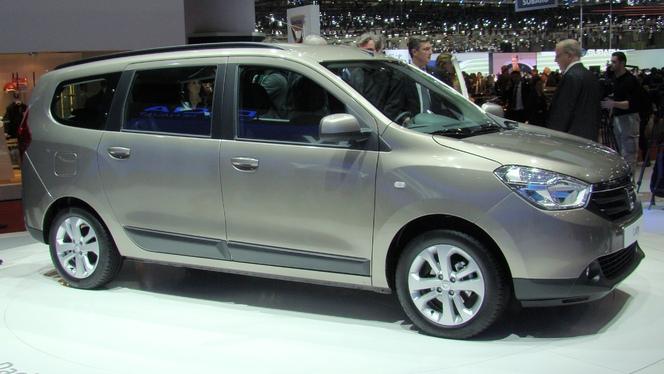 Vidéo en direct du salon de Genève 2012 - Le Dacia Lodgy, 9 900 €, le transport de troupe pas cher