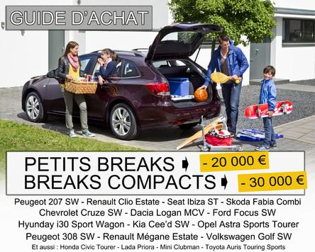 Guide d'achat - Petits breaks et breaks compacts