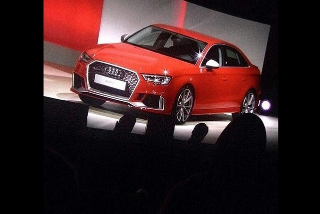 Surprise : la RS3 berline officialisée par Audi