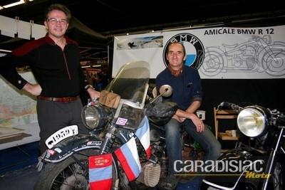 Interview d'Eric Dumas après son périple de 21 000 kms jusqu'au Lac Baïkal à bord de son side-car BMW R12 de 1939.