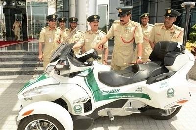 Insolite: les motos de la police de Dubaï