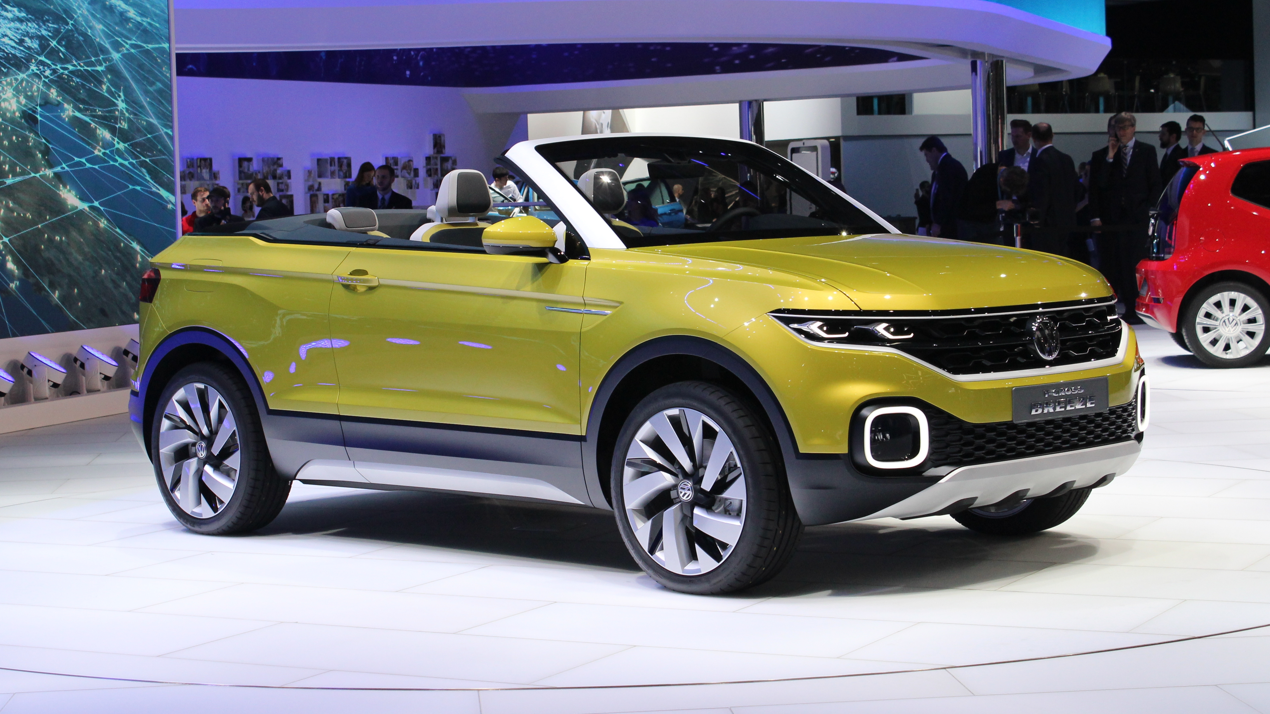 volkswagen t cross breeze concept future polo suv cabriolet en direct du salon de gen ve. Black Bedroom Furniture Sets. Home Design Ideas