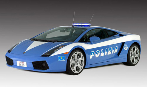 Lamborghini Gallardo Polizia : dead in action