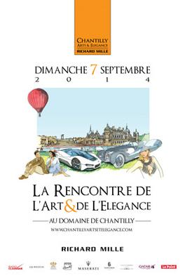 Un nouveau concours d'élégance à Chantilly le dimanche 7 septembre 2014