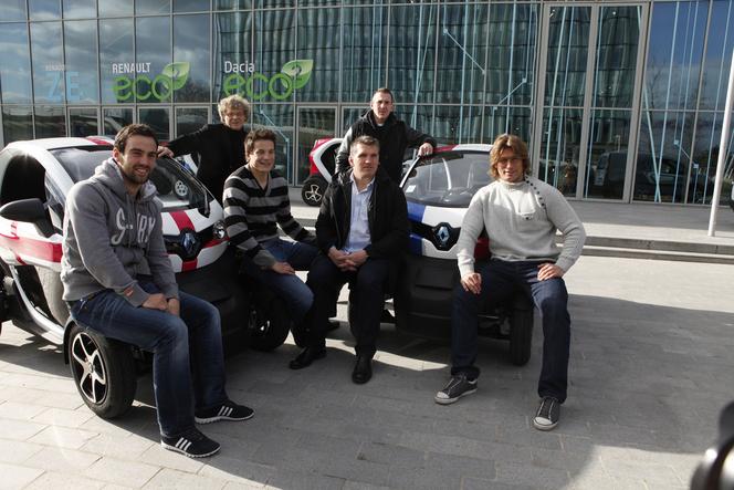 Le XV de France en Renault Twizy