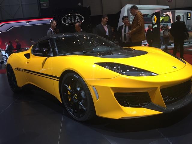 Lotus Evora Sport 410: radicalisée - En direct du salon de Genève 2016