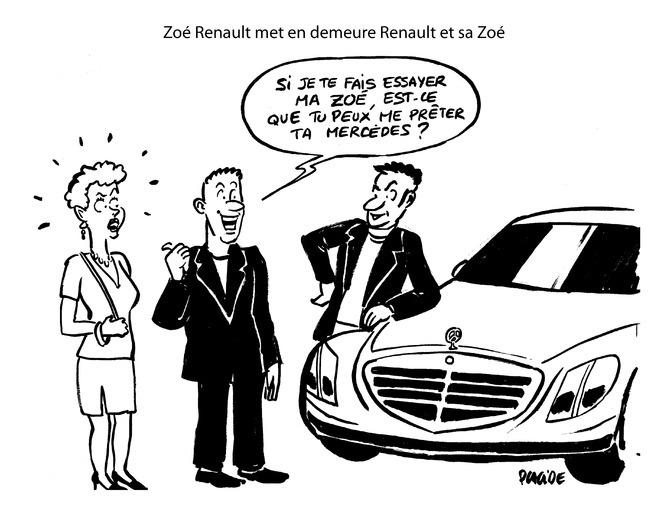 Le dessin du jour – Mise en demeure de Renault par Zoé…Renault