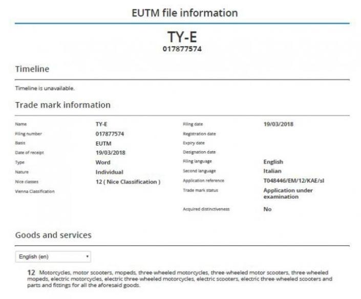 Yamaha: un TY-E breveté qui nous met au courant de l'électrique
