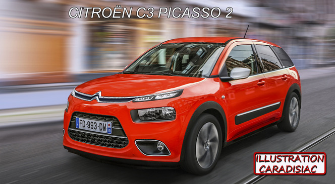 Citroën : le futur C3 Picasso arrivera en 2016 !