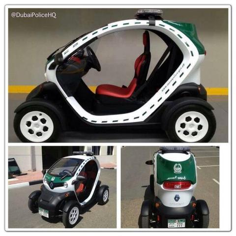 La police de Dubaï en... Renault Twizy