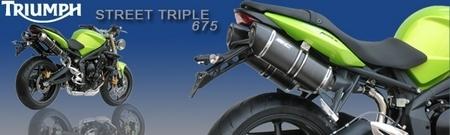 Silencieux SC Project pour la Triumph Street Triple [+ vidéos]