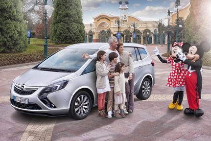 Opel Meriva et Zafira Tourer Disneyland Paris