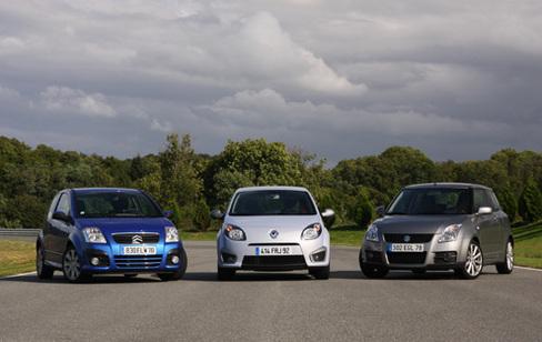 Comparatif Renault Twingo RS/ Suzuki Swift Sport/ Citroën C2 VTS : sportives mais exploitables?