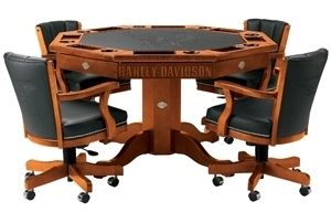 Table de poker harley davidson for Tavolo poker