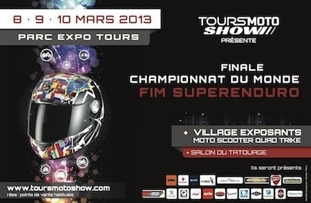 Tours Moto Show 2013: du 8 au 10 mars prochain