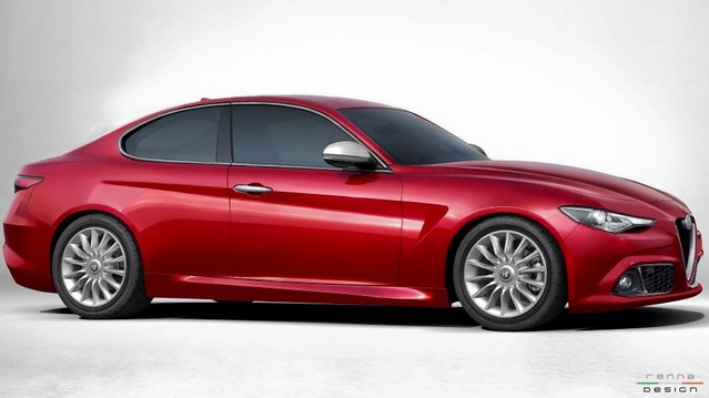 Design : l'Alfa Romeo Giulia imaginée en coupé