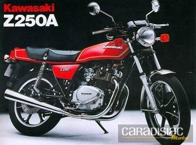 """Kawasaki Z 250 : la plus petite des """"Z""""."""