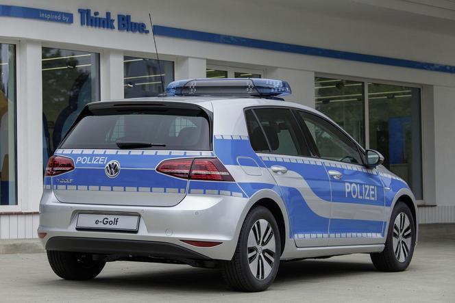 Volkswagen e-Golf polizei : pourquoi pas... sur de courtes distances