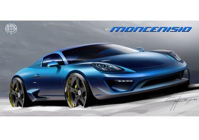 La Porsche Cayman S revue par Studiotorino Moncenisio