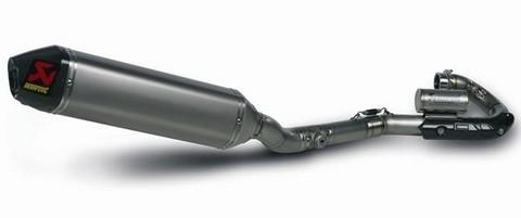 Akrapovic aligne de titane la Kawasaki KXF 450 version 2010.