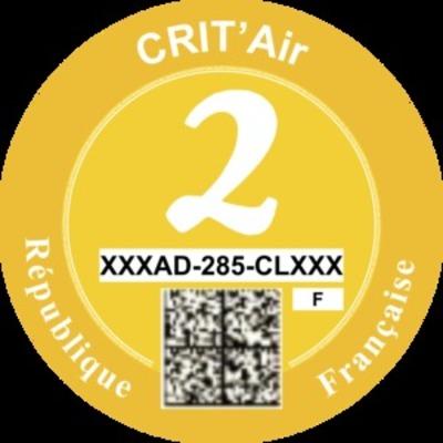La vignette Crit'Air 2 regroupe notamment les diesels mis en circulation après 2011. Même dans Paris, les seules interdictions à l'heure actuelle concernent les diesels d'avant janvier 2001 (vignette Crit'Air 5).