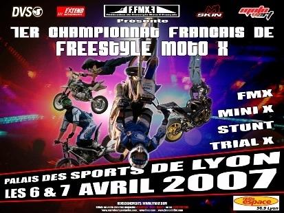 1er championat français : freestyle moto X