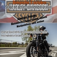 Harley-Davidson Nantes: journée maniabilité (... uniquement pour sa clientèle)