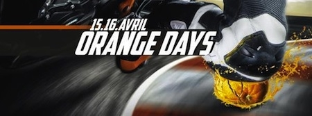 KTM, Orange Days 2016 : les 15 et 16 avril
