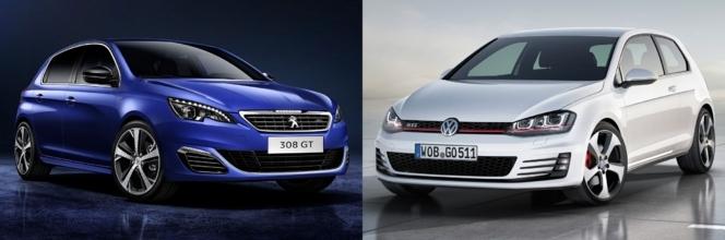 Match du Mondial : Peugeot 308 GT ou Volkswagen Golf GTI ?