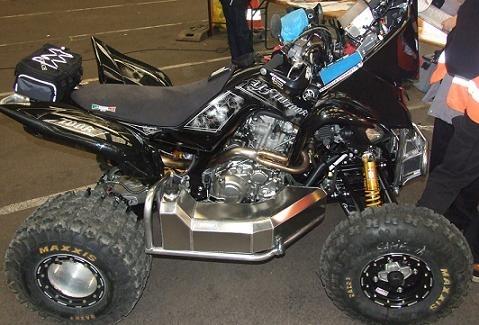 Le quad Yamaha de Camélia Liparoti