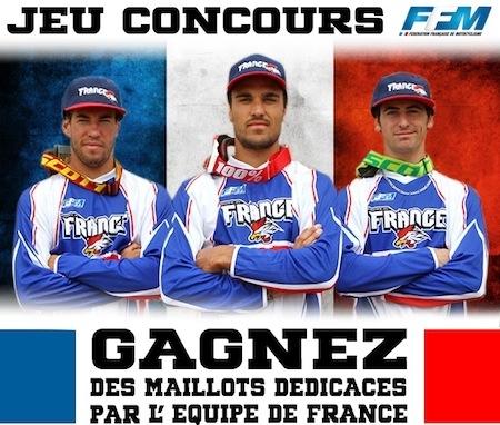 """FFM: des maillots """"équipe de France Motocross des Nations"""" à gagner"""