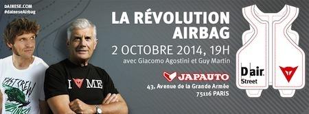 Dainese vous invite le 2 octobre pour parler airbag