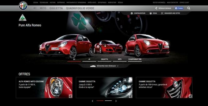 Un nouveau site web pour Alfa Romeo France