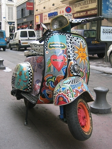 La photo du jour : Vespa personelle