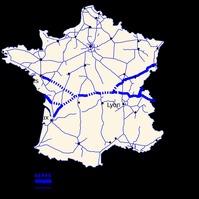 La RCEA traverse la France d'Est en Ouest